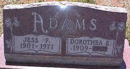 ADAMS, JESS F. - La Plata County, Colorado | JESS F. ADAMS - Colorado Gravestone Photos