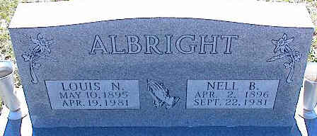 ALBRIGHT, LOUIS N. - La Plata County, Colorado | LOUIS N. ALBRIGHT - Colorado Gravestone Photos