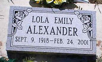ALEXANDER, LOLA EMILY - La Plata County, Colorado | LOLA EMILY ALEXANDER - Colorado Gravestone Photos