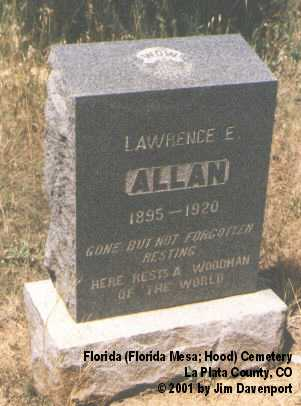 ALLAN, LAWRENCE E. - La Plata County, Colorado | LAWRENCE E. ALLAN - Colorado Gravestone Photos