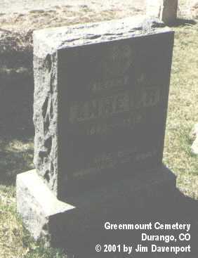 ANHEIER, ALBERT M. - La Plata County, Colorado | ALBERT M. ANHEIER - Colorado Gravestone Photos