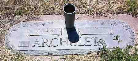 ARCHULETA, LOUIS A. - La Plata County, Colorado | LOUIS A. ARCHULETA - Colorado Gravestone Photos