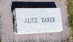 BAKER, ALICE - La Plata County, Colorado | ALICE BAKER - Colorado Gravestone Photos