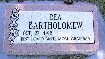 BARTHOLOMEW, BEA - La Plata County, Colorado   BEA BARTHOLOMEW - Colorado Gravestone Photos