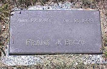 BECAY, FRANK J. - La Plata County, Colorado | FRANK J. BECAY - Colorado Gravestone Photos