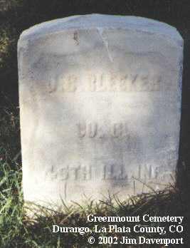 BLEEKER,  J. C. - La Plata County, Colorado |  J. C. BLEEKER - Colorado Gravestone Photos