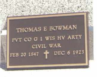 BOWMAN, THOMAS E. - La Plata County, Colorado | THOMAS E. BOWMAN - Colorado Gravestone Photos