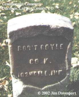 BOYLE, ROB'T - La Plata County, Colorado | ROB'T BOYLE - Colorado Gravestone Photos
