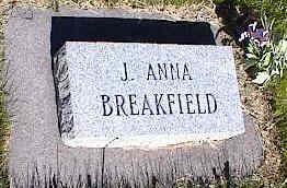 BREAKFIELD, J. ANNA - La Plata County, Colorado   J. ANNA BREAKFIELD - Colorado Gravestone Photos