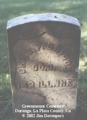BRIGGS, CHAS F. - La Plata County, Colorado   CHAS F. BRIGGS - Colorado Gravestone Photos