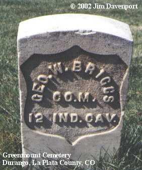 BRIGGS, GEO. W. - La Plata County, Colorado | GEO. W. BRIGGS - Colorado Gravestone Photos