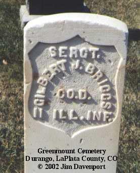 BRIGGS, GILBERT J. - La Plata County, Colorado | GILBERT J. BRIGGS - Colorado Gravestone Photos