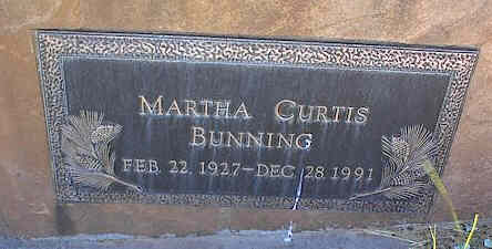 BUNNING, MARTHA CURTIS - La Plata County, Colorado | MARTHA CURTIS BUNNING - Colorado Gravestone Photos