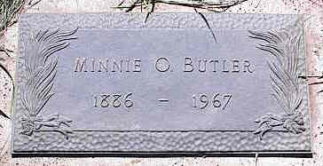 BUTLER,  MINNIE O. - La Plata County, Colorado |  MINNIE O. BUTLER - Colorado Gravestone Photos