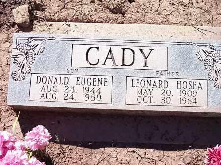 CADY, DONALD EUGENE - La Plata County, Colorado   DONALD EUGENE CADY - Colorado Gravestone Photos