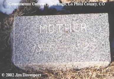 CUNHA, FANNIE - La Plata County, Colorado | FANNIE CUNHA - Colorado Gravestone Photos
