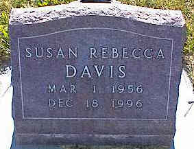 DAVIS, SUSAN REBECCA - La Plata County, Colorado | SUSAN REBECCA DAVIS - Colorado Gravestone Photos