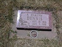 DENNIS, F. EVALYN - La Plata County, Colorado | F. EVALYN DENNIS - Colorado Gravestone Photos