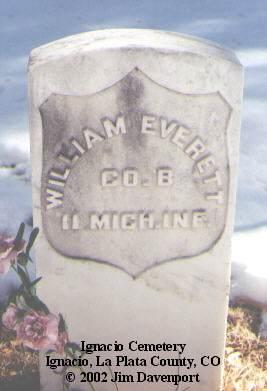 EVERTT, WILLIAM - La Plata County, Colorado | WILLIAM EVERTT - Colorado Gravestone Photos