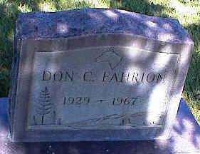 FAHRION, DON C. - La Plata County, Colorado   DON C. FAHRION - Colorado Gravestone Photos