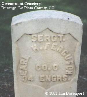 FERGUSON, EARL H. - La Plata County, Colorado | EARL H. FERGUSON - Colorado Gravestone Photos
