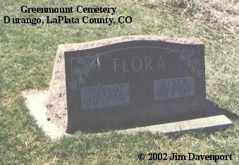 FLORA, GLADYS A. - La Plata County, Colorado | GLADYS A. FLORA - Colorado Gravestone Photos