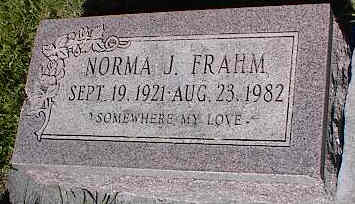 FRAHM, NORMA J. - La Plata County, Colorado | NORMA J. FRAHM - Colorado Gravestone Photos