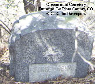 FREUND, GEORGE - La Plata County, Colorado | GEORGE FREUND - Colorado Gravestone Photos