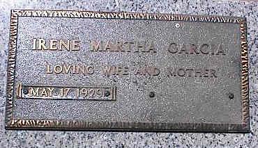 GARCIA, IRENE MARTHA - La Plata County, Colorado | IRENE MARTHA GARCIA - Colorado Gravestone Photos