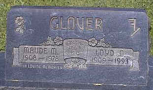 GLOVER, MAUDE M. - La Plata County, Colorado | MAUDE M. GLOVER - Colorado Gravestone Photos