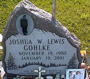GOHLKE, JOSHUA W. LEWIS - La Plata County, Colorado | JOSHUA W. LEWIS GOHLKE - Colorado Gravestone Photos