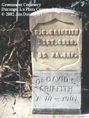GRIFFITH, DR. DAVID S. - La Plata County, Colorado | DR. DAVID S. GRIFFITH - Colorado Gravestone Photos