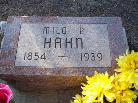 HAHN, MILO P. - La Plata County, Colorado | MILO P. HAHN - Colorado Gravestone Photos