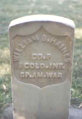 HAINES, WILLIAM B. - La Plata County, Colorado | WILLIAM B. HAINES - Colorado Gravestone Photos