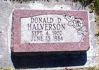 HALVERSON, DONALD D. - La Plata County, Colorado | DONALD D. HALVERSON - Colorado Gravestone Photos