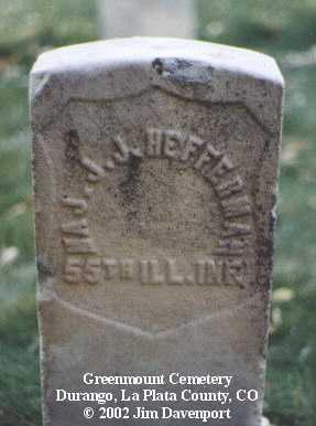HEFFERMAN, J. J. - La Plata County, Colorado | J. J. HEFFERMAN - Colorado Gravestone Photos