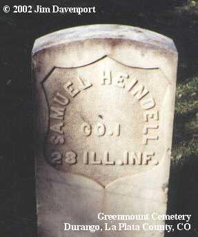 HEINDELL, SAMUEL - La Plata County, Colorado | SAMUEL HEINDELL - Colorado Gravestone Photos