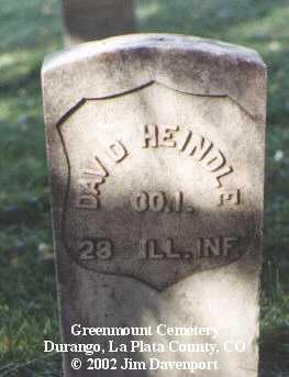 HEINDLE, DAVID - La Plata County, Colorado   DAVID HEINDLE - Colorado Gravestone Photos
