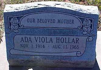 HOLLAR, ADA VIOLA - La Plata County, Colorado | ADA VIOLA HOLLAR - Colorado Gravestone Photos