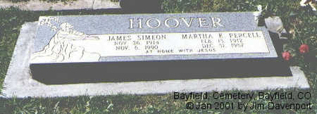 HOOVER, JAMES SIMEON - La Plata County, Colorado | JAMES SIMEON HOOVER - Colorado Gravestone Photos