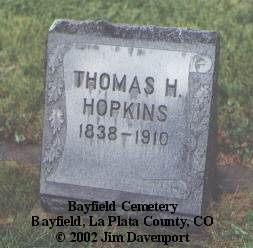 HOPKINS, THOMAS H. - La Plata County, Colorado | THOMAS H. HOPKINS - Colorado Gravestone Photos