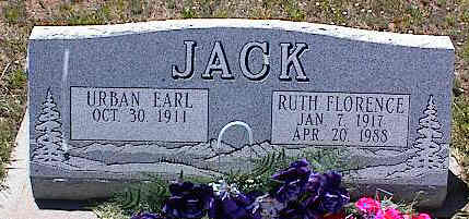JACK, URBAN EARL - La Plata County, Colorado | URBAN EARL JACK - Colorado Gravestone Photos