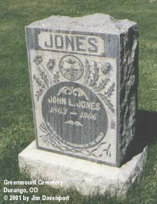 JONES, JOHN L. - La Plata County, Colorado | JOHN L. JONES - Colorado Gravestone Photos