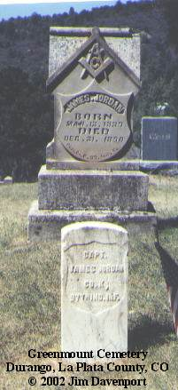 JORDAN, JAMES - La Plata County, Colorado | JAMES JORDAN - Colorado Gravestone Photos