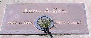 KEYS, AMMA A. - La Plata County, Colorado | AMMA A. KEYS - Colorado Gravestone Photos