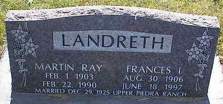 LANDRETH, FRANCES I. - La Plata County, Colorado | FRANCES I. LANDRETH - Colorado Gravestone Photos