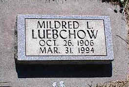 LUEBCHOW, MILDRED L. - La Plata County, Colorado | MILDRED L. LUEBCHOW - Colorado Gravestone Photos