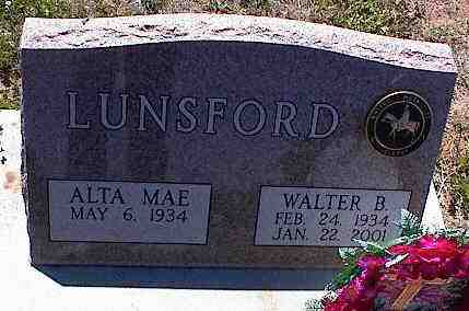 LUNSFORD, WALTER B. - La Plata County, Colorado | WALTER B. LUNSFORD - Colorado Gravestone Photos