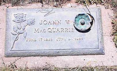 MACQUARRIE, JOANN V. - La Plata County, Colorado | JOANN V. MACQUARRIE - Colorado Gravestone Photos
