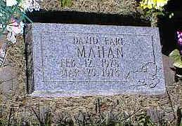 MAHAN, DAVID EARL - La Plata County, Colorado   DAVID EARL MAHAN - Colorado Gravestone Photos